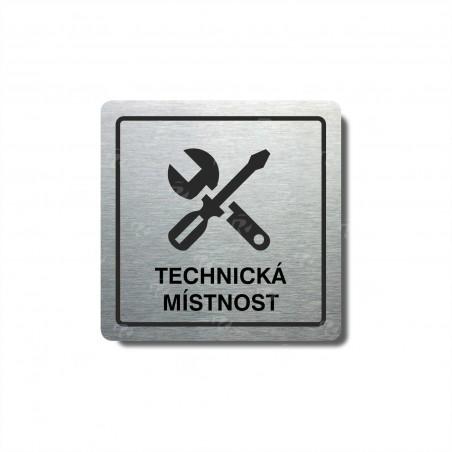 """Piktogram (80x80mm) """"Technická místnost"""""""