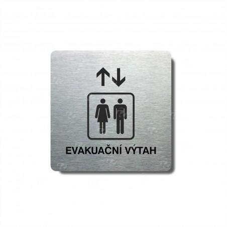 """Piktogram (80x80mm) """"Evakuační výtah"""""""