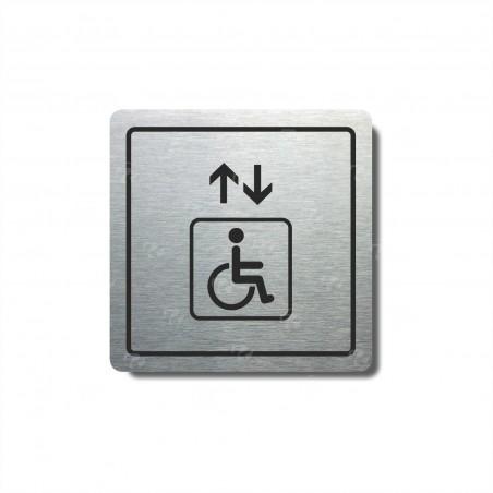 """Piktogram (80x80mm) """"Výtah invalidé I."""""""