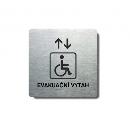 "Piktogram (80x80mm) ""Evakuační výtah invalidé"""