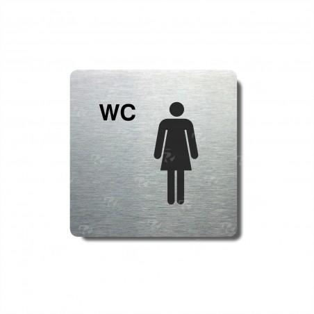 """Piktogram (80x80mm) """"WC ženy"""""""