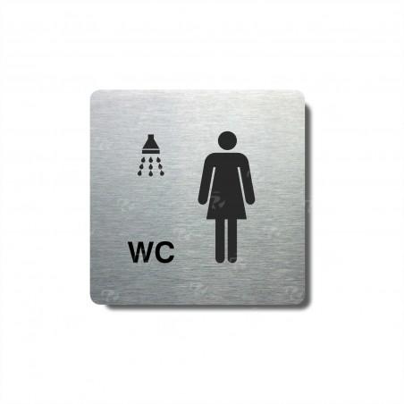 """Piktogram (80x80mm) """"Ženy - sprcha, WC"""""""