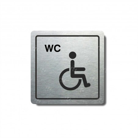 "Piktogram (80x80mm) ""WC invalidé"""