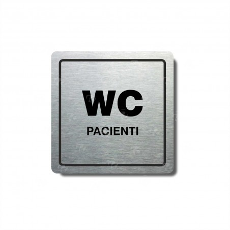 "Piktogram (80x80mm) ""WC pacienti"""