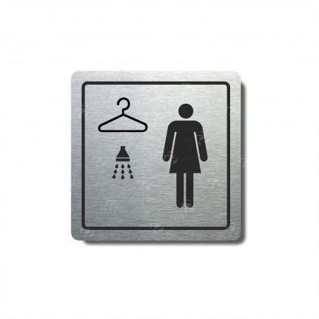 "Piktogram (80x80mm) ""Ženy - šatna, sprcha"""