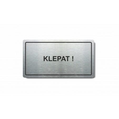 "Piktogram (80x150mm) ""Klepat!"""