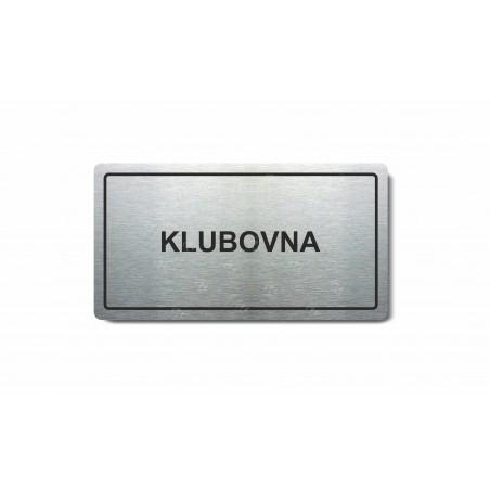 """Piktogram (80x150mm) """"Klubovna"""""""
