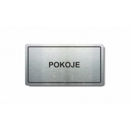 """Piktogram (80x150mm) """"Pokoje"""""""
