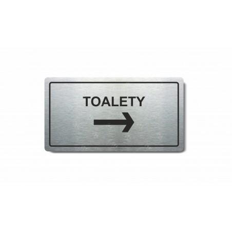"""Piktogram (80x150mm) """"Toalety vpravo"""""""