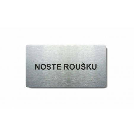 "Piktogram (80x150mm) ""Noste roušku"""