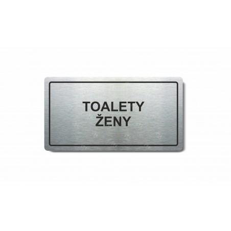 "Piktogram (80x150mm) ""Toalety ženy"""