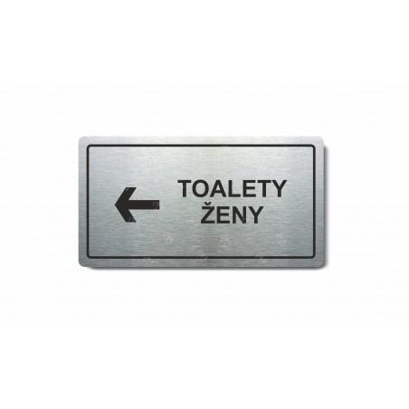 """Piktogram (80x150mm) """"Toalety ženy vlevo"""""""