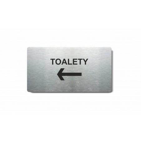 """Piktogram (80x150mm) """"Toalety šipka vlevo"""""""