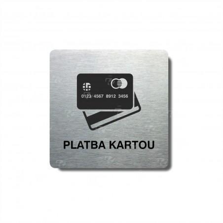 "Piktogram (80x80mm) ""Platba kartou"""