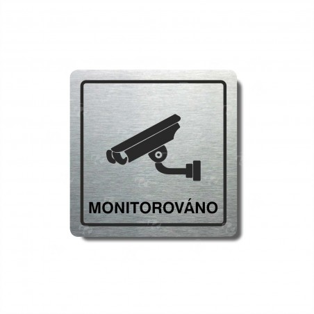"""Piktogram (80x80mm) """"Monitorováno"""""""