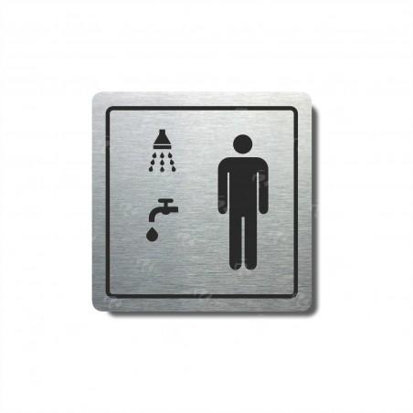 """Piktogram (80x80mm) """"Muži, sprcha+umývárna"""""""