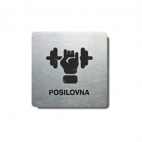 "Piktogram (80x80mm) ""Posilovna"""