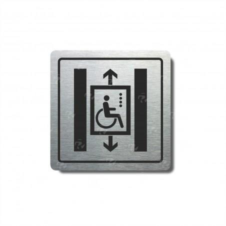 """Piktogram (80x80mm) """"Výtah invalidé II."""""""