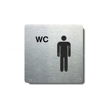 "Piktogram (80x80mm) ""WC muži"""