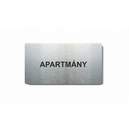 """Piktogram (80x150mm) """"Apartmány"""""""