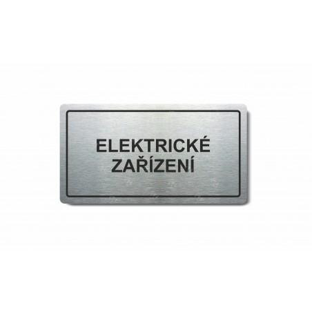 """Piktogram (80x150mm) """"Elektrické zařízení"""""""