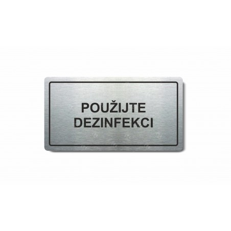 "Piktogram (80x150mm) ""Používejte dezinfekci"""