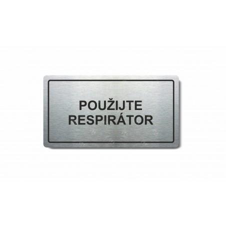 """Piktogram (80x150mm) """"Použijte respirátor"""""""