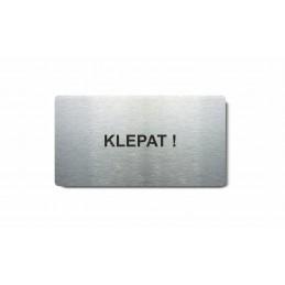 "Piktogram (80x150mm) ""Klepat"""