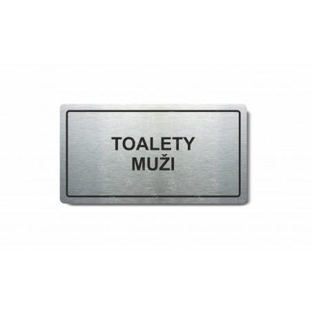 """Piktogram (80x150mm) """"Toalety muži"""""""