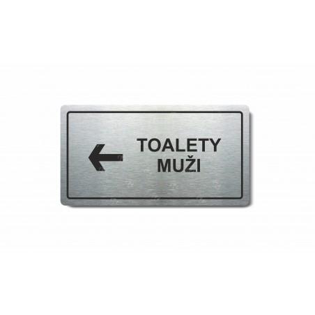 "Piktogram (80x150mm) ""Toalety muži vlevo"""