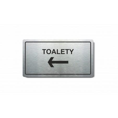 """Piktogram (80x150mm) """"Toalety vlevo"""""""