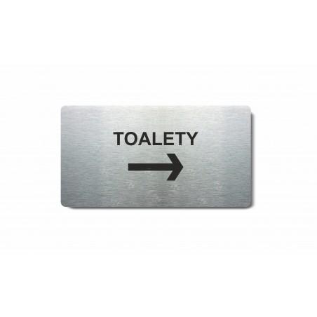 """Piktogram (80x150mm) """"Toalety šipka vpravo"""""""