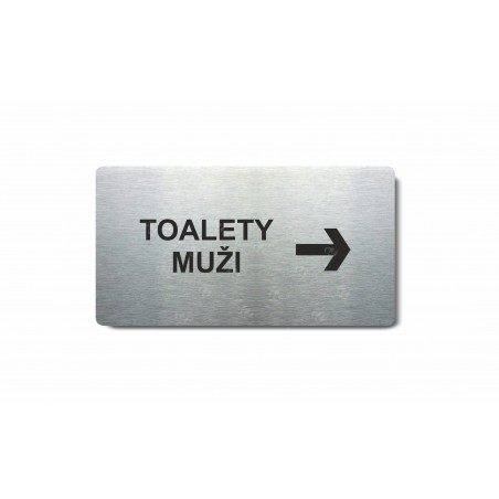 "Piktogram (80x150mm) ""Toalety muži šipka vpravo"""