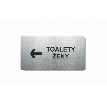 """Piktogram (80x150mm) """"Toalety ženy šipka vlevo"""""""
