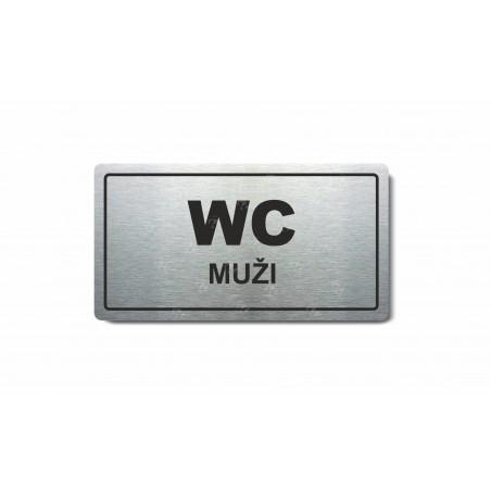 "Piktogram (80x150mm) ""WC muži"""