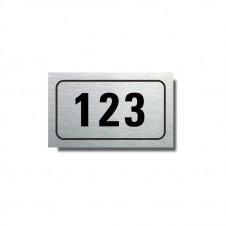 Číslo na dveře typ 04 (50x30mm)