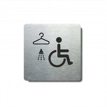"""Piktogram (80x80mm) """"Invalidé šatna+sprcha"""""""