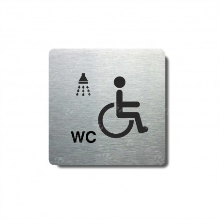 "Piktogram (80x80mm) ""Invalidé WC+sprcha"""