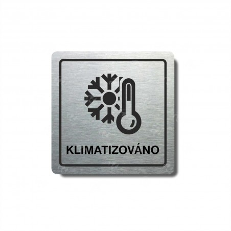 "Piktogram (80x80mm) ""Klimatizováno"""