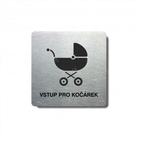 """Piktogram (80x80mm) """"Kočárek"""""""