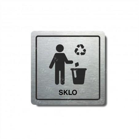 """Piktogram (80x80mm) """"Odpad-sklo"""""""