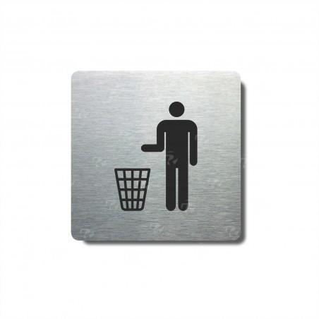 """Piktogram (80x80mm) """"Odpadkový koš"""""""
