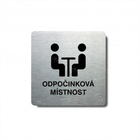 """Piktogram (80x80mm) """"Odpočinková místnost"""""""