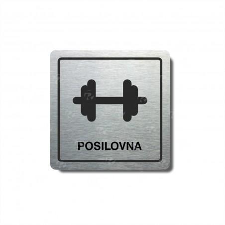 "Piktogram (80x80mm) ""Posilovna I."""